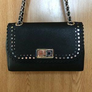 Michael Kors Hannah leather shoulder purse